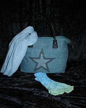 Tasche mit Stern petrol