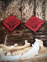 Whitby Krampus Run Leathe Badges