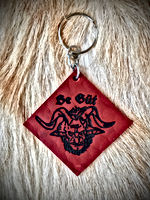 Whitby Krampus Run Leather Keyring