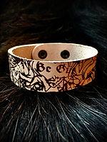 Whitby Krampus Run Leather Wrist Band