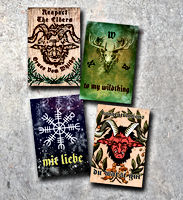 Whitby Krampus Run Gift Tag Set