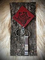 Whitby Krampus Run Leather Keyring & Bottle Opener