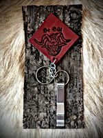 Whitby Krampus Run Leather Keyring & Bottle Opener