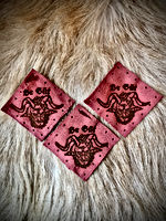 Whitby Krampus Run distressed leathe patches