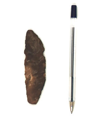 An image of a flint tool, it is around t