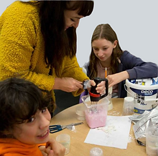 image showing young adults doing museum