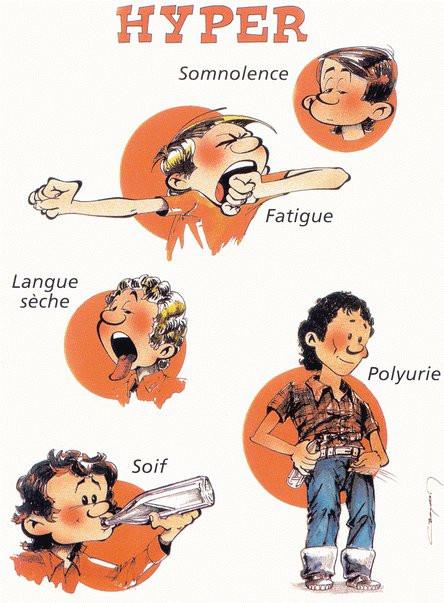 Symptômes diabète de type 2 - Croq'diabète