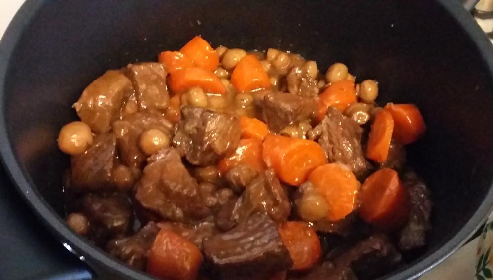 Bœuf bourguignon - 10 gr de glucides
