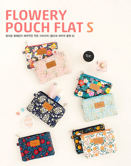 Flowery Pouch Flat S