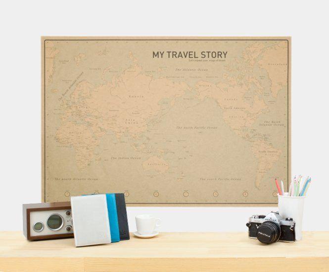 My Travel Story Craft World Map