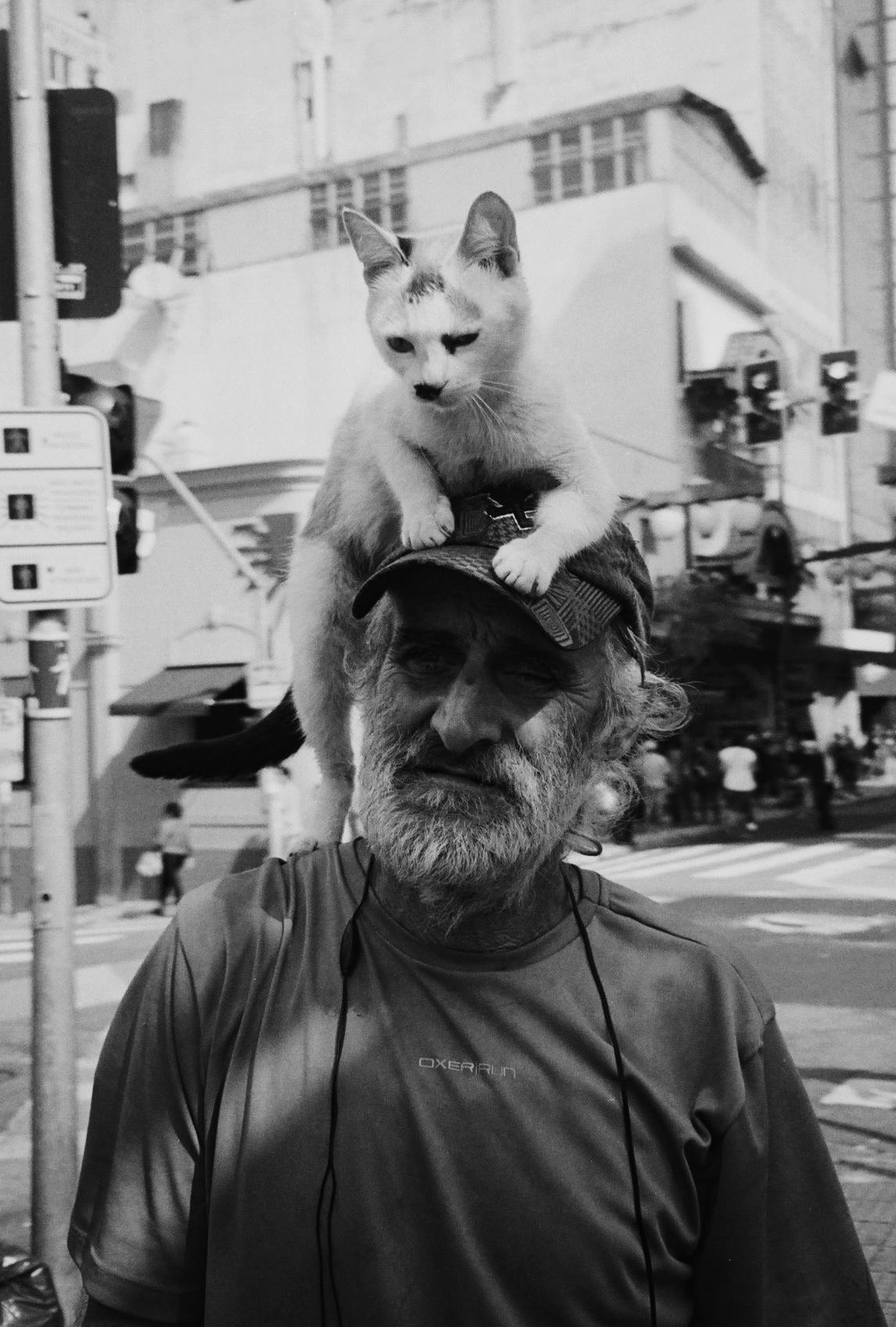 Senhor e seu gatinho - Liberdade, SP