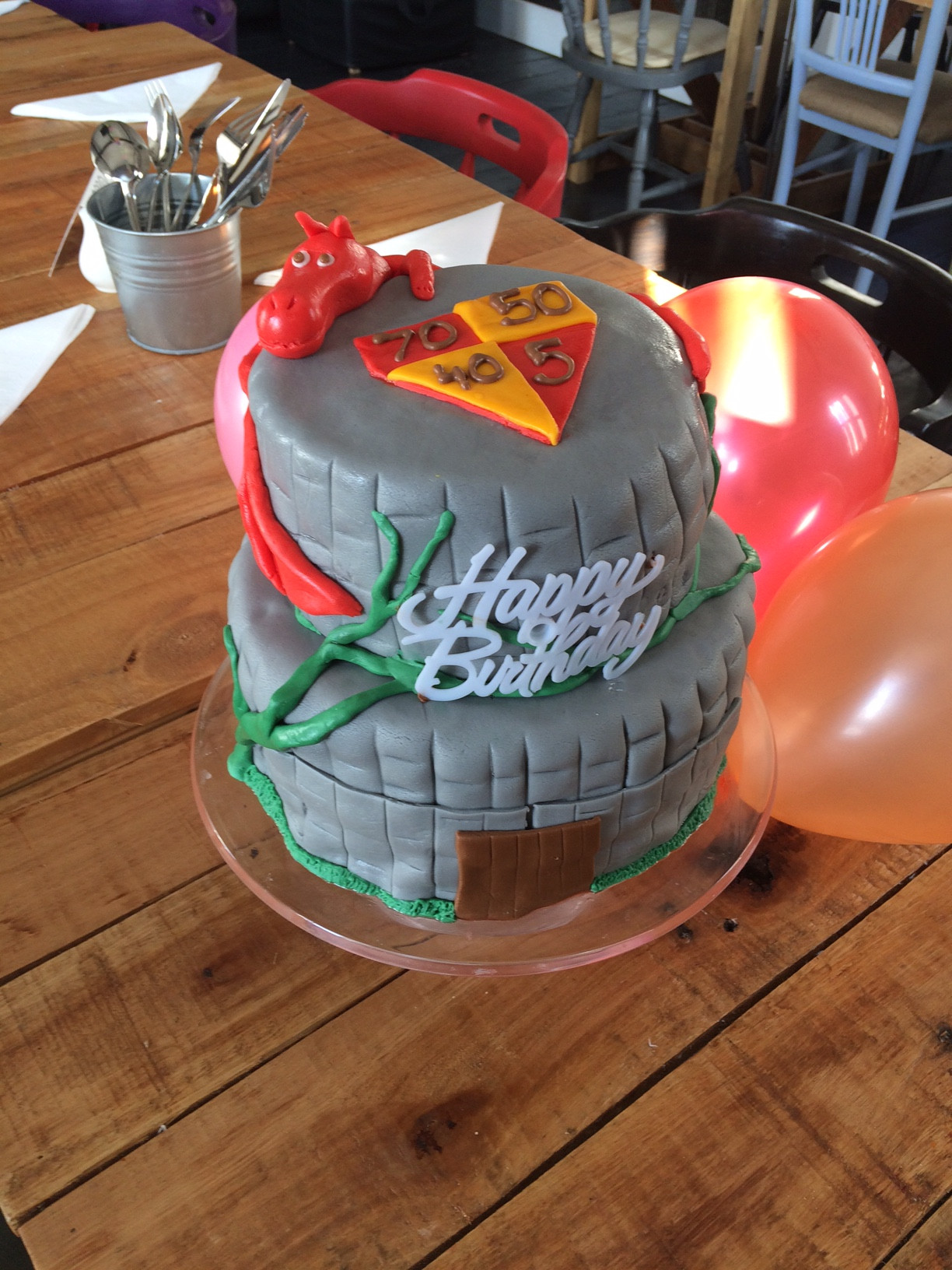 Two Tiered Dragon Cake