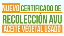 Nuevo Certificado de Recolección de AVU