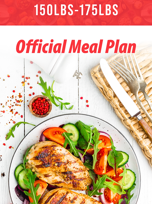 150lbs-175lbs Official Meal Plan