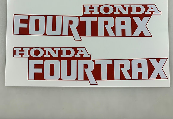 1993 TRX300 Tank Decal Red