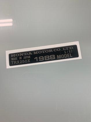 1988 TRX250X Year Decal