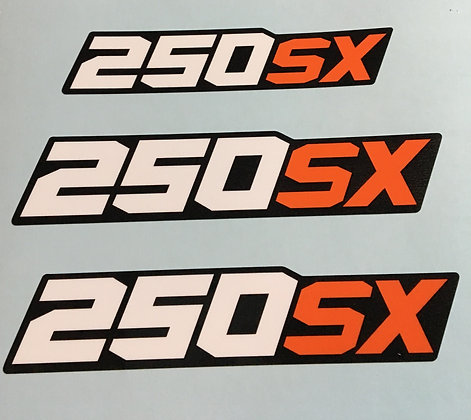 Side and Rear trunk decals 3pc