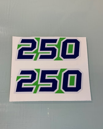 1985 Tecate Side Decal Green