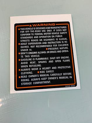 Tank Warning 1986