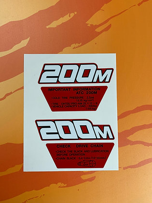 1984 ATC200M side decals