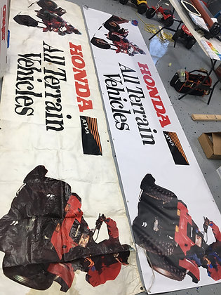 8 ft Honda ATC TRX Banner 1986 2x8