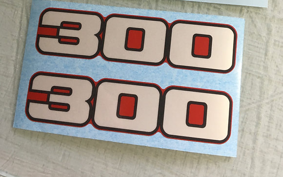 1988 TRX300 Side Cover Decals