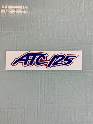 1987 ATC125M Trunk Decal