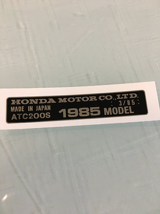 1985 ATC200S Year Decal