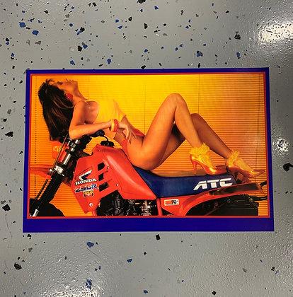 Girl on ATC250R