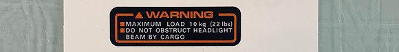 85-87 Big Red Front Rack Warning