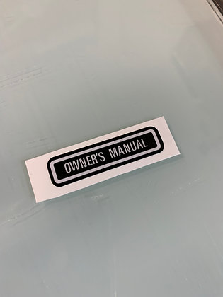 Owners Manual Decal