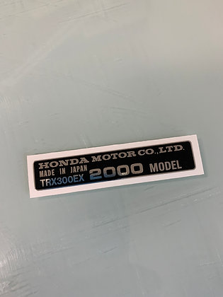 TRX300EX Year Decal