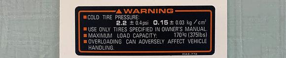 87 Big Red Tire Pressure