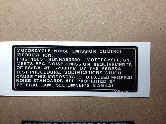 1985 350X Emission