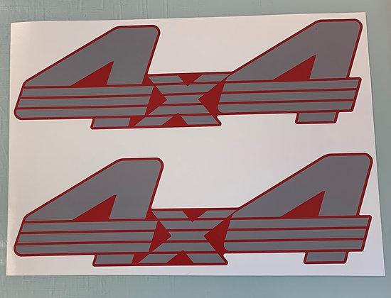1988 Red rear fender decals