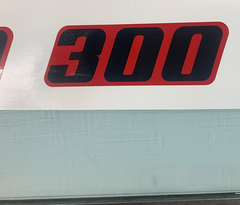 94 TRX300 Red and Black Side Decal