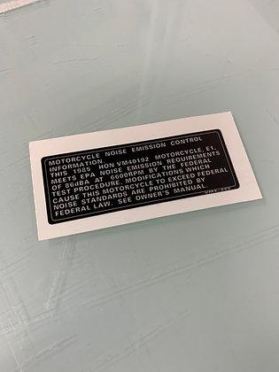 1985 ATC200S Emission Decal