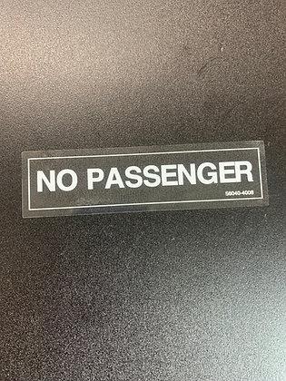 KLT No Passsenger