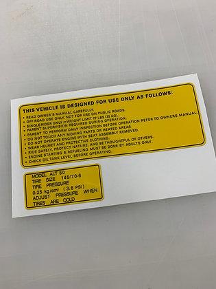 ALT50 Warning Yellow English