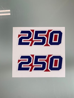 1985 Tecate Decal Side Red Blue