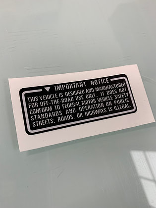 Important Notice Black