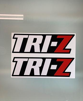 Tri-Z Rear Fender Decals  Black