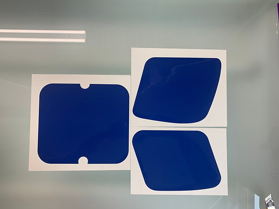 KD80X Decal Number Plate Set Blue