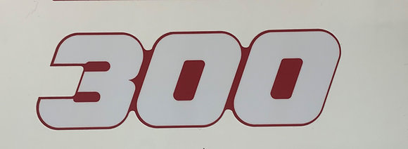 TRX300 Red Side Decal