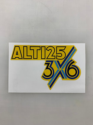 ALT125 Front 3x6 Decal