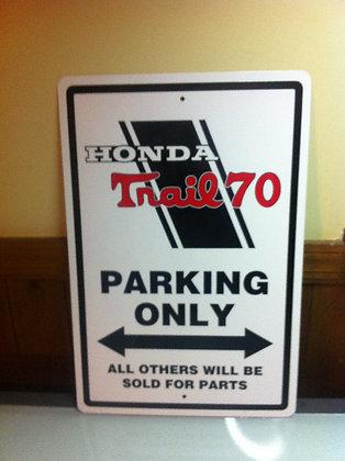 Honda CT70H Sign