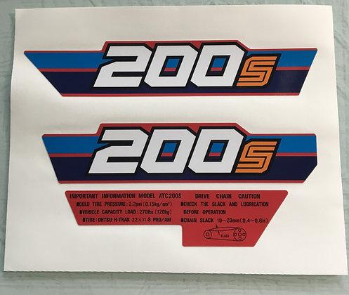 1984 ATC200S Side Rear Fenders Warning