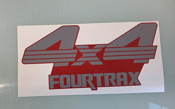 1988 Red TRX300 Front Decal