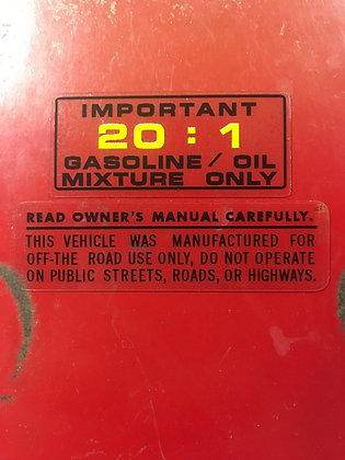 Fuel mixture and warning 81 ATC250R