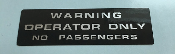 Warn No Pass Silver